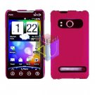 For HTC Evo 4G Cover Hard Case Rubberzied Rose Pink