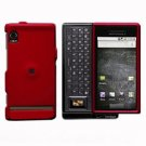 For Motorola Droid A855 Cover Hard Case Red