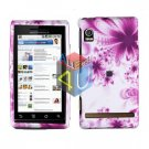 For Motorola Droid A855 Cover Hard Case H-Flower