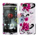 For Motorola Droid X mb810 Cover Hard Case W-Flower