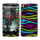 For Motorola Droid X mb810 Cover Hard Case Rainbow