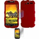 For HTC T-Mobile MyTouch 4G Protector Screen + Cover Hard Case Red
