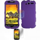 For HTC T-Mobile MyTouch 4G Protector Screen + Cover Hard Case Purple