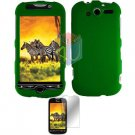 For HTC MyTouch 4G / Panache 4G Protector Screen + Cover Hard Case Green