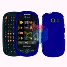 For Samsung Flight II 2 a927 Cover Hard Case Rubberized Blue
