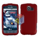 For LG Optimus S / LS-670 Cover Hard Case Rubberized Red