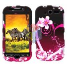For HTC MyTouch 4G / Panache 4G Protector Screen + Cover Hard Case Love