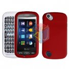 For Pantech Laser P9050 Cover Hard Case Rubberized Red