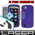 For Pantech Laser P9050 Car Charger +Hard Case Rubberized Purple 2-in-1