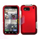 For Motorola Defy MB525 Cover Hard Case Rubberized Red