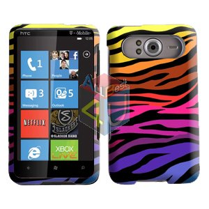FOR HTC HD7 HD 7 Cover Hard Case C-Zebra