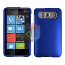 FOR HTC HD7 HD 7 Cover Hard Case Rubberzied Blue