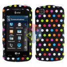 For LG Shine Touch KM555 Cover Hard Case R-Dot
