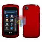 For LG Shine Touch KM555 Cover Hard Case Rubberized Red