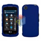 For LG Shine Touch KM555 Cover Hard Case Rubberized Blue