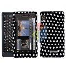 For Motorola Milestone 2 Cover Hard Case Polka Dot
