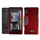 For Motorola Milestone 2 Cover Hard Case Rubberized Red