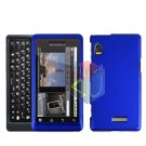 For Motorola Milestone 2 Cover Hard Case Rubberized Blue