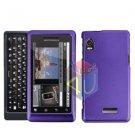 For Motorola Milestone 2 Cover Hard Case Rubberized Purple