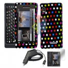 For Motorola Droid 2 a955 Screen + Car Charger + Hard Case R-Dot 3-in-1