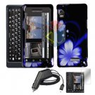 For Motorola Droid 2 a955 Screen + Car Charger + Hard Case B-Flower 3-in-1