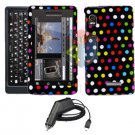 For Motorola Droid 2 a955 Car Charger + Cover Hard Case R-dot 2-in-1