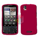 For Motorola Droid Pro A957 Cover Hard Case Rubberized Rose Pink