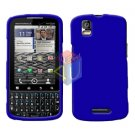For Motorola Droid Pro A957 Cover Hard Case Rubberized Blue
