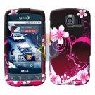 For LG Optimus S / LS-670 Cover Hard Case Love