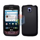 For LG Optimus T / P509 Cover Hard Case Rubberized Black