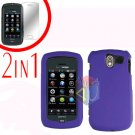 For Pantech Crux / CDM8999 Cover Hard Case Rubberized Purple +Screen 2-in-1