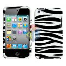 For ipod touch 4 Cover Hard Case Zebra