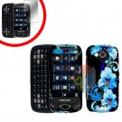 For Samsung Reality U820 Cover Hard Case Flower +Screen 2-in-1