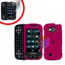 For Samsung Reality U820 Cover Hard Case Rubberized Rose Pink +Screen 2-in-1