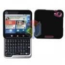 For Motorola Flipout MB511 Cover Hard Case Rubberized Black