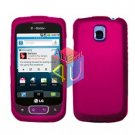 For LG Optimus T / P509 Cover Hard Case Rubberized Rose Pink