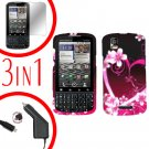 For Motorola Droid Pro A957 Screen +Car Charger +Hard Case Love 3-in-1