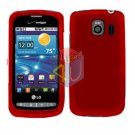 For LG Vortex VS660 Cover Hard Case Rubberized Red