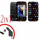 For Motorola Flipside MB508 Car Charger +Hard Case R-Dot 2-in-1