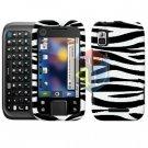 For Motorola Flipside MB508 Cover Hard Case Zebra