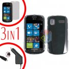 For Samsung Focus i917 Screen +Car Charger +Cover Hard Case Clear 3-in-1