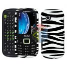 For Samsung Evergreen A667 Cover Hard Case Zebra