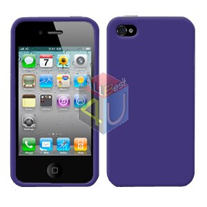 For Apple iphone 4S 4 Cover Hard Case Rubberized Purple