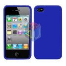 For Apple iphone 4S 4 Cover Hard Case Rubberized Blue