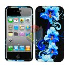 For Apple iphone 4S 4 Cover Hard Case Flower