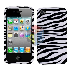 For Apple iphone 4S 4 Cover Hard Case Zebra