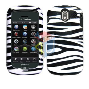 For Pantech Crux / CDM8999 Cover Hard Case Zebra