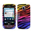 For LG Optimus T / P509 Cover Hard Case C-Zebra