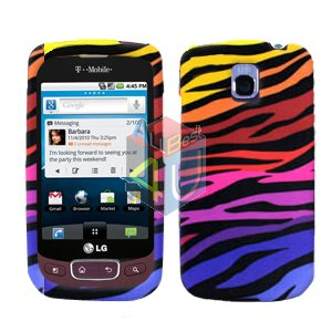 For LG Optimus T / P509 Cover Hard Case C-Zebra