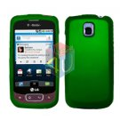 For LG Optimus T / P509 Cover Hard Case Rubberized Green